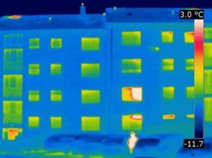 Thermografie vor der Modernisierung aufgenommen am 13.02.2012 Außentemperatur -5,0°Celsius